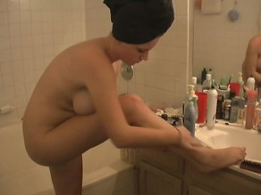 Ami Lotions Her Freshly Shaven Legs